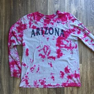 🎃2 FOR 22 - Arizona Wildcats Long Sleeve Tie-Dye